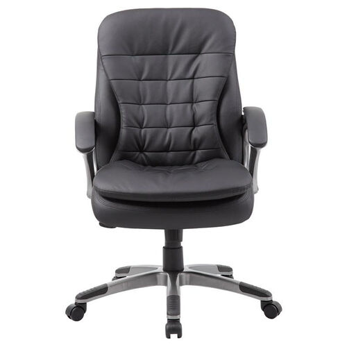 Our Mid Back Pillow Top Pewter Finish Executive Chair with Armrests - Black is on sale now.