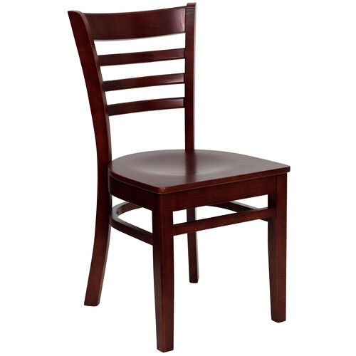Our Mahogany Finished Ladder Back Wooden Restaurant Chair is on sale now.