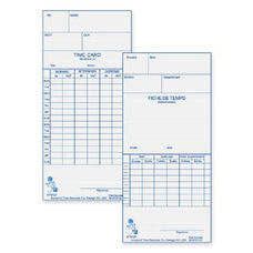 Acroprint Time Recorder Weekly/Bi-Weekly Time Cards - Pack Of 250