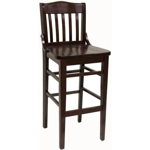 Our Vertical Slat Back Solid Wood Barstool - Dark Mahogany Finish is on sale now.