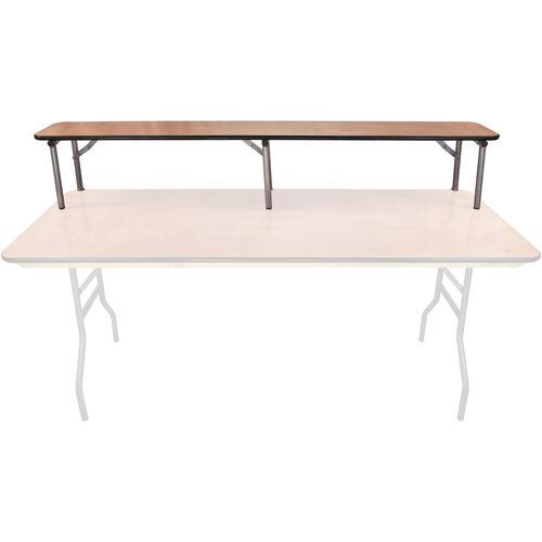 Advantage 6 ft. Rectangular Table Wood Bar Top