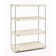 Solid Plastic 4 Shelf Unit-Poly-Z-Brite - 24