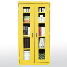 See-Thru Series 36'' W x 12'' D x 72'' H Clear View Storage Cabinet - Yellow