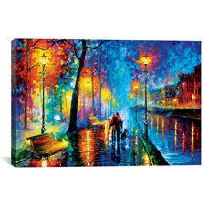 Melody Of The Night by Leonid Afremov Gallery Wrapped Canvas Artwork