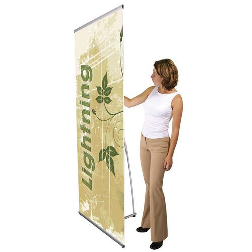 Our Lightning Spring Back Banner Stand is on sale now.