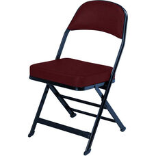 3000 Series Fabric Upholstered Seat and Back Folding Chair with B Back Style
