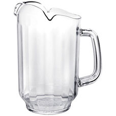 32 oz Three Spout Water Pitcher in Clear Polycarbonate