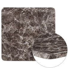 "24"" Square Gray Marble Laminate Table Top"