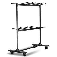 Hanging Folding Chair Cart with 48 Chair Capacity - 79''L X 31.25''W