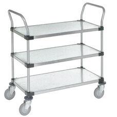 Stainless Steel 3 Shelf Solid Shelf Cart - 18
