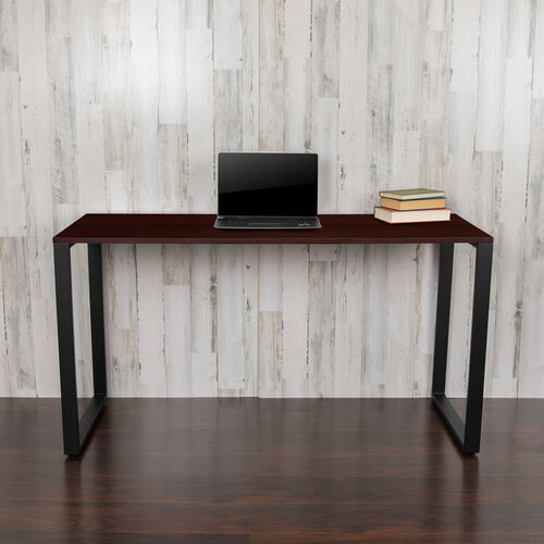 "Our Commercial Grade Industrial Style Office Desk - 55"" Length (Mahogany) is on sale now."
