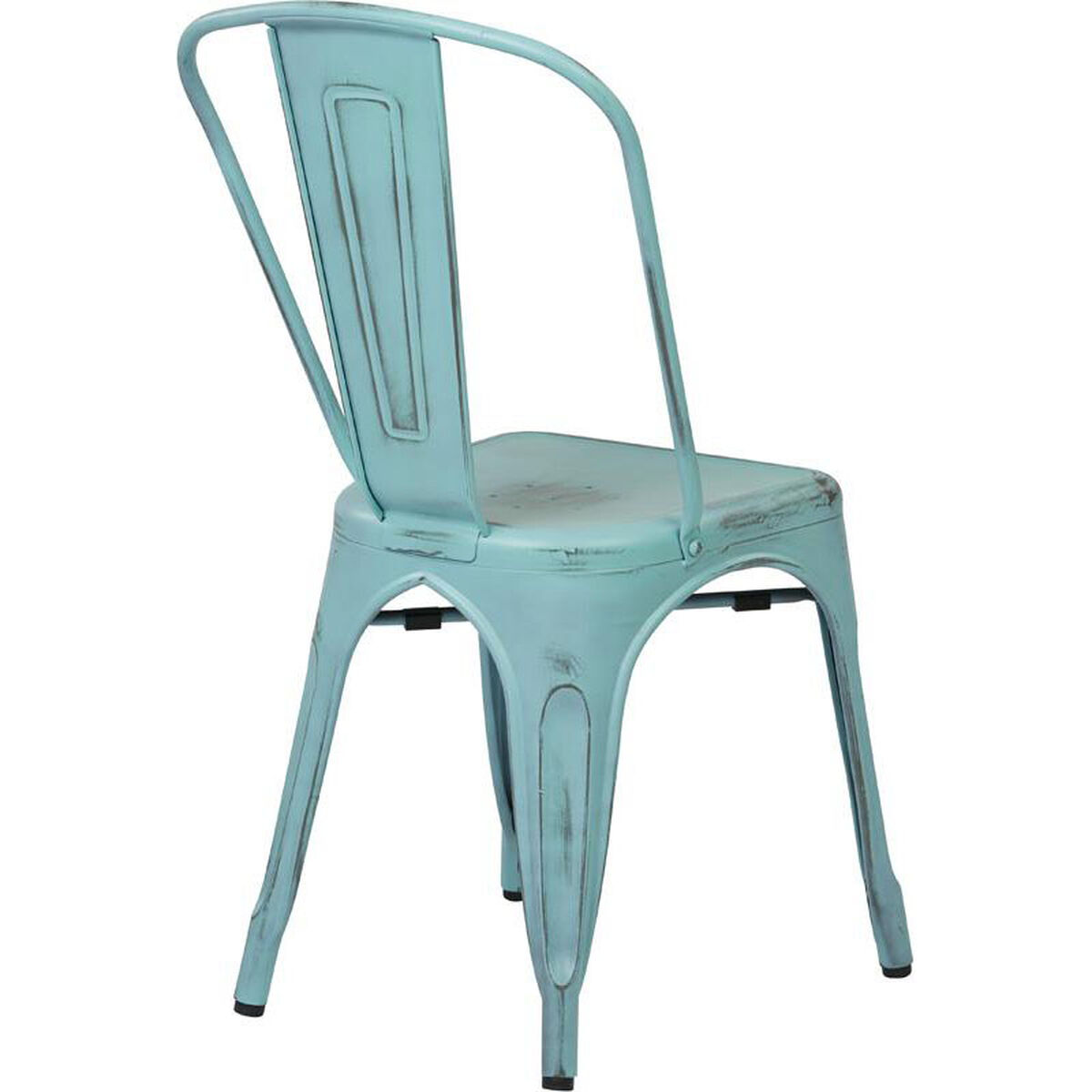Set Of 2 Blue Stacking Chair Brw29a2 Asb