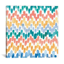 Dashed Chevron by Juliet Meeks Gallery Wrapped Canvas Artwork
