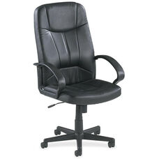 Lorell Chadwick Series Leather Executive High Back Chair