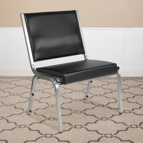 Our HERCULES Series 1500 lb. Rated Black Antimicrobial Vinyl Bariatric Antimicrobial Medical Reception Chair is on sale now.