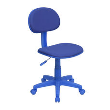 Blue Fabric Swivel Task Chair