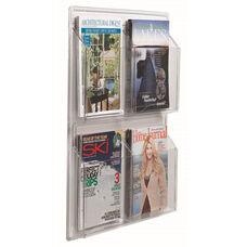 Clear-Vu Magazine and Literature Display - 4 Magazines
