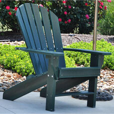 Seaside Recycled Plastic Adirondack Chair in Green