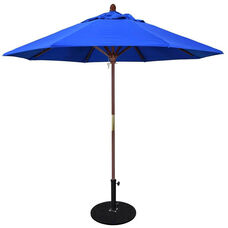 9 Ft. Square Wood Market Umbrella with Push Lift and Single Wind Vent