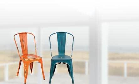 Distressed Indoor Outdoor Chairs